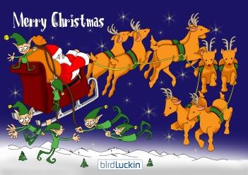 Reindeer design christmas card