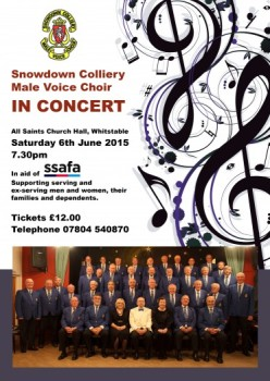 Snowdown Choir poster 2015